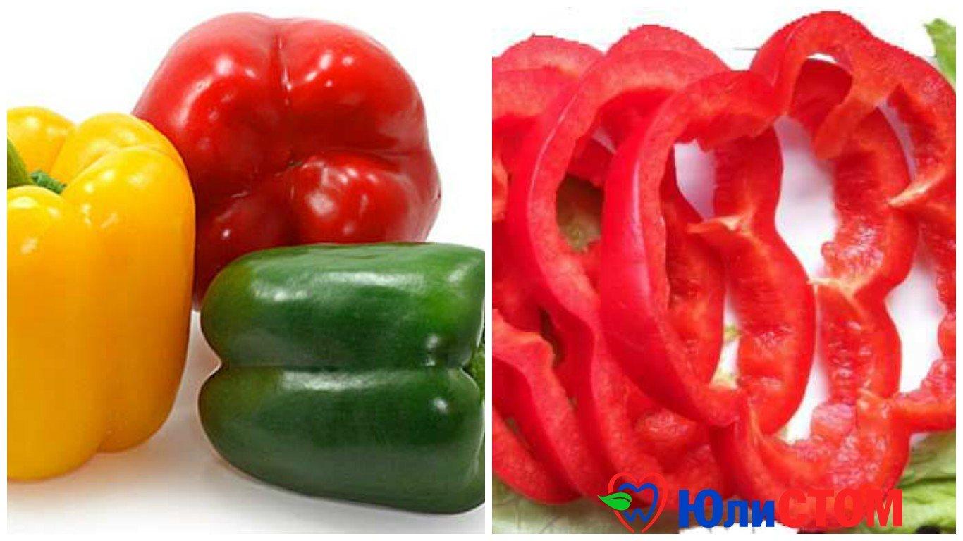 Болгарский перец - в числе вредных овощей для зубов