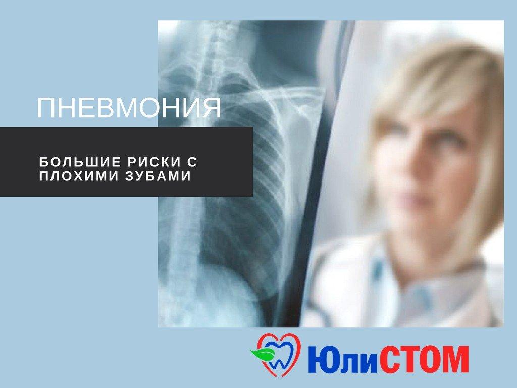 Пневмония - последствия проблем с зубами