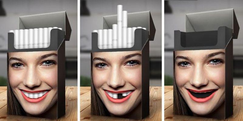 Реклама о вредности курения для зубов