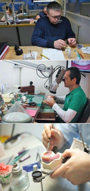 Зубной техник за работой